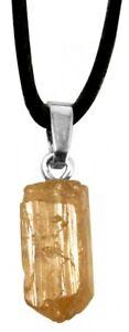Goldtopas Anhänger, Rohstein, Topas gold, 1,5 bis 2 cm, Edelstein Kette gelbgold