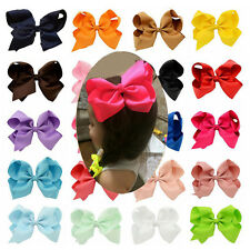 20pcs/lot 6 Inch Girl Boutique Grosgrain Ribbon Large Hair Bow Alligator Clip