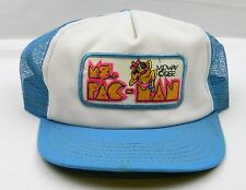Rare Ms. Pac-Man 1982 Vtg Mesh Truckers Hat Snap Back Cap Pacman Video Game HTF