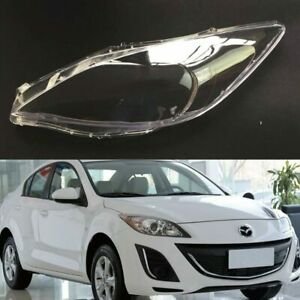 Pair For Mazda 3 Speed Headlamp Lens Car Headlight Cover Replacement Auto Shell