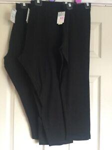 PRIMARK LADIES BLACK CROPPED 3/4 CAPRI LENGTH LEGGINGS SIZES UK 6-24