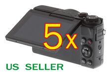 5x Canon PowerShot G7X Camera Clear LCD Screen Protector Guard Shield Film