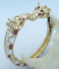 Unique Deer Giraffe Animal Bracelet Bangle Cuff Clear Austrian Crystal CMC03301