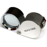 30X21mm Jewellers Jewellery Loupe Magnifier Magnifying Glass Eye Lens Silver Pop