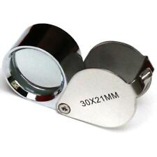 30X21mm Jewellers Jewellery Loupe Magnifier Magnifying Glass Eye Lens Silver