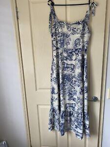 NWT Atmos Here Midi Dress Toile Print Size 14