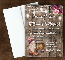 Rustic Country Invitation Wedding or Bridal Shower Cards With Envelopes Qty 75