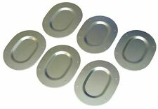 1967-77 Body Galvanized Metal Trunk Floor Pan Drain Plugs Set Plate Covers 6pc