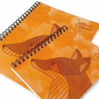 Monster Cancelleria - Joshua Verde A4 & A5 Foderato Notebook - Made IN UK - Fox