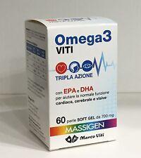 MASSIGEN OMEGA 3 con EPA e DHA 60 PERLE DA 700 mg MARCO VITI
