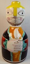 Fine Vintage De Simone Pottery Vase with Male Figure with Dagger (signed)