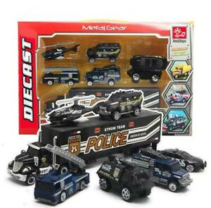 7 Police S.W.A.T Helicopter Model Car Truck Metal Diecast Vehicle Toy Pack Gift