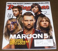 MAROON 5 COMPLETE BAND SIGNED ROLLING STONE MAGAZINE #1034 SEPTEMBER 6, 2007