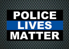 "2 PCS Police Officer Thin Blue Line ""POLICE LIVES MATTER"" Decal Fashion Sticker"