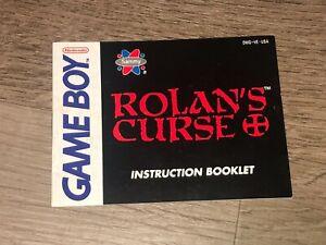 Rolan's Curse Instruction Manual Booklet Nintendo Game Boy Authentic