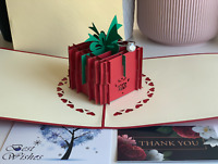Surprised Box Birthday Handmade 3D Greeting Valentine's day Pop Up Card - USA