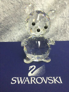 Swarovski Crystal Bear, Giant (US Only) 7637112000. Retired 1988.