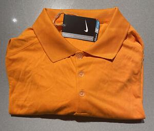 Mens Size Medium Nike Golf Polo Shirt Orange Shirt Sleeve 509167-873