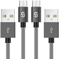 Syncwire Micro USB Kabel Nylon 2er-Pack 1m 2.4A USB Ladekabel High Speed Sync...