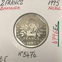 2 FRANCS SEMEUSE - 1995 - Pièce de Monnaie en Nickel // BE