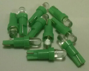 10x Green LED Wedge Dash Instrument Panel Light Bulb T5 37 70 73 74 Fits Dodge