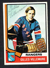 Gilles Villemure #179 signed autograph auto 1974-75 O-Pee-Chee OPC Hockey Card