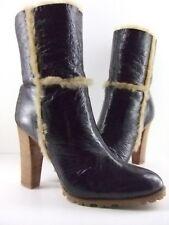 Women's Casadei Polacco Brown Short Boots Pellame Vikingo Moro Size EU41 US10.5