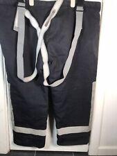 More details for vintage puc group fire service fighter fireman hi vis reflective trousers elarge