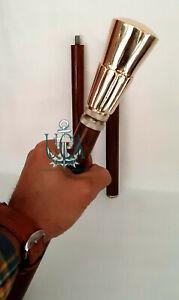 Ballon Style Brown Wooden Walking Stick Cane Antique Brass Handle design gift
