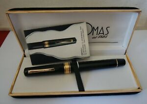 1980ca OMAS EXTRA GENTLEMAN OVERSIZE FACETED+BOX & PAPERS FLEXIBLE NIB NM