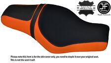DESGN 2 ORANGE BLACK CUSTOM FOR HARLEY SPORTSTER 883 1200 TWOUP VINYL SEAT COVER