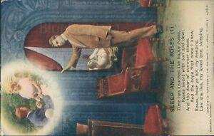 Sleep and the roses no 1  bamforth song postcard 4796/1