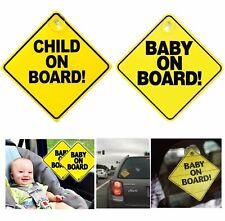 BABY ON BOARD Enfant À Bord Voiture Signe, Autocollant Fenêtre badge bébé en voiture fille garçon