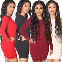 LADIES WOMENS BODYCON MIDI DRESS | BLACK | RED | WINE | CHAMPAGNE PINK 8 - 14