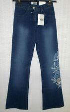 Klassische stonewashed Damen-Jeans mit Stickerei