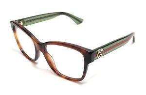 Gucci GG0038O 002 Havana Women's Authentic Eyeglasses Frame 54 mm