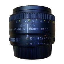 Nikon AF NIKKOR 50mm f/1.8D Lens - With Free Tiffen UV Filter