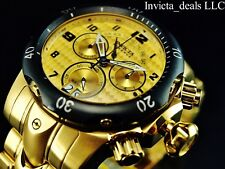 Invicta Men's 52mm Reserve Venom Swiss Made Chronograph Gold Dial GP SS Watch