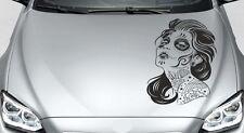 Aufkleber Auto Motorhaube Tribal Car Style Totenkopf TATTOO  Sugar Skull Lady 26
