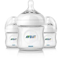 AVENT NATURAL BPA FREE NEWBORN FEEDING BOTTLE - 4 oz (PACK OF 3)