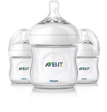 AVENT NATURAL BPA FREE NEWBORN FEEDING BOTTLE - 4 oz (PACK OF 3)
