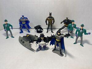 Lot Of 11 Vintage DC Comics Batman & Joker Toys Mcdonalds (1990-1993)