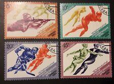 Sowjetunion Olympische Winterspiele Sarajevo Mi-Nr. 5352/55 gestempelt
