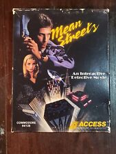 Vintage Mean Streets Commodore 64 128 Game with Original Disks, Box and Manual!