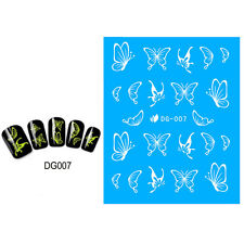 Glow in the Dark Nail Art Sheet Water Decal Transfer Decoration Sticker Polish