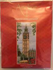 Anchor THE WESTMINSTER CLOCK BIG BEN Counted Cross Stitch Kit  Sealed New in Bag