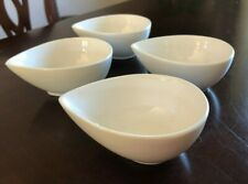 Set of 4 White Porcelain.Bowls- Microwave and Dishwasher safe_ New with Tag