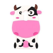 ^ back case 3d silicona funda bolsa case cover vaca Pink Apple iPhone 7 4,7