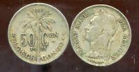 CONGO   BELGE   50 centimes 1925  (  belgisch )  ( bis )