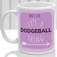 Taza Dodgeball cosa, ideal para cualquier reproductor Dodgeball (Rosa)